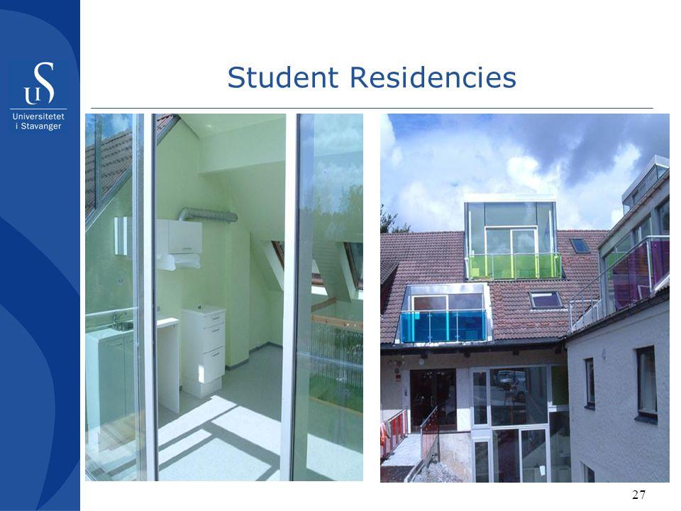 27 Student Residencies