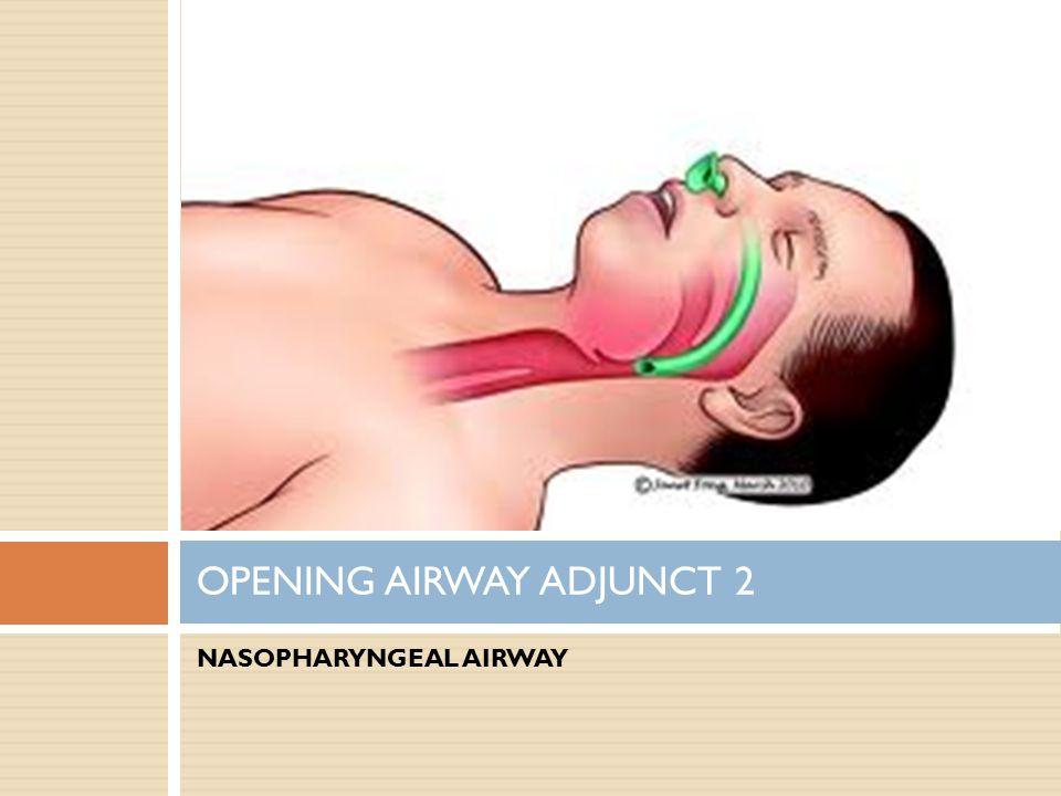 NASOPHARYNGEAL AIRWAY OPENING AIRWAY ADJUNCT 2