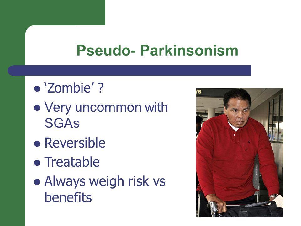 Pseudo- Parkinsonism 'Zombie' .