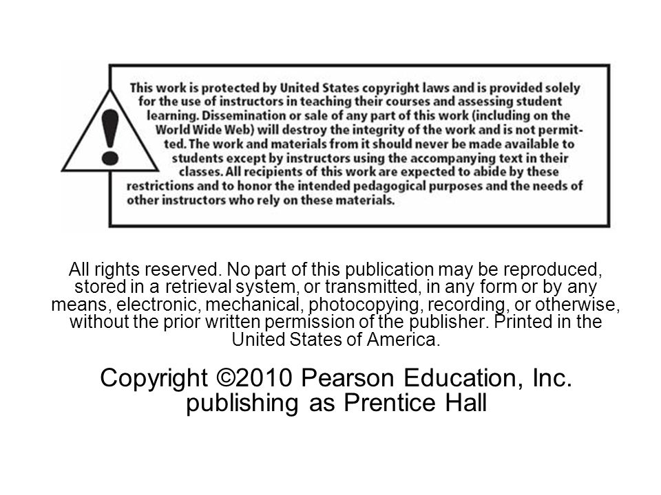 All rights reserved. No part of this publication may be reproduced, stored in a retrieval system, or transmitted, in any form or by any means, electro
