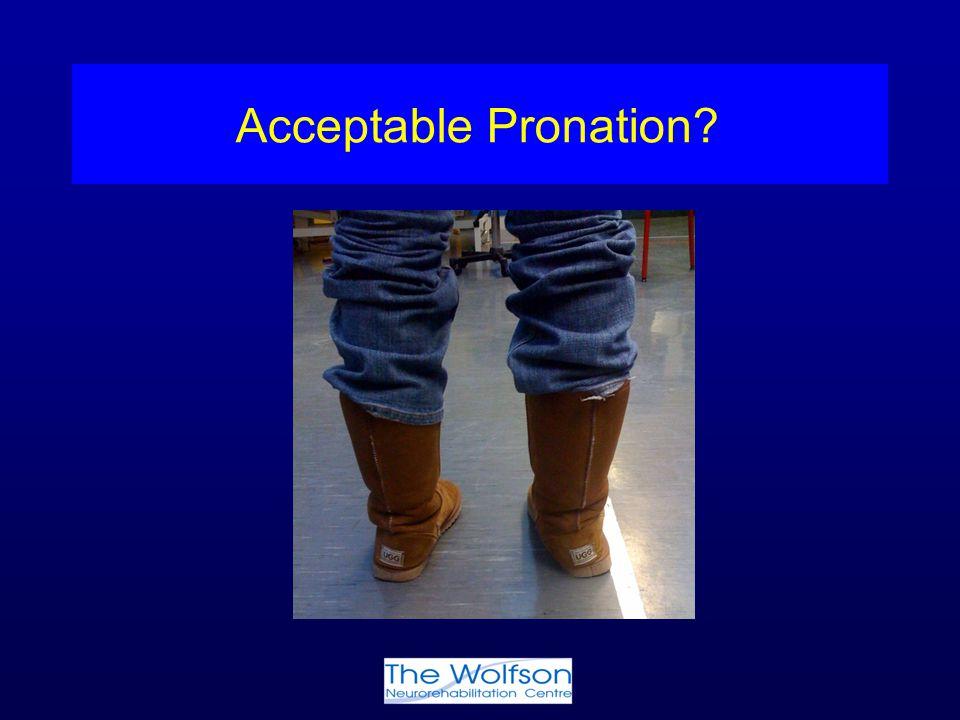 Acceptable Pronation?