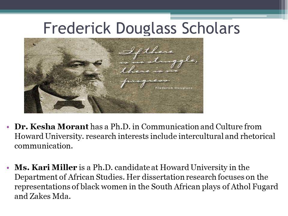 Frederick Douglass Scholars Dr. Kesha Morant has a Ph.D.
