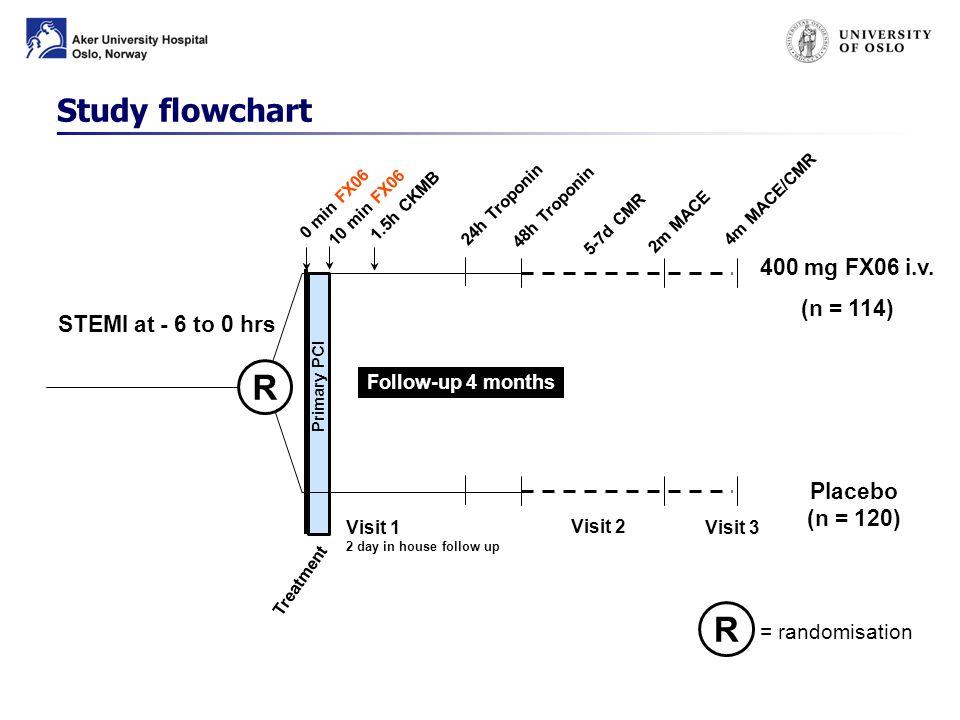 Follow-up 4 months 400 mg FX06 i.v.