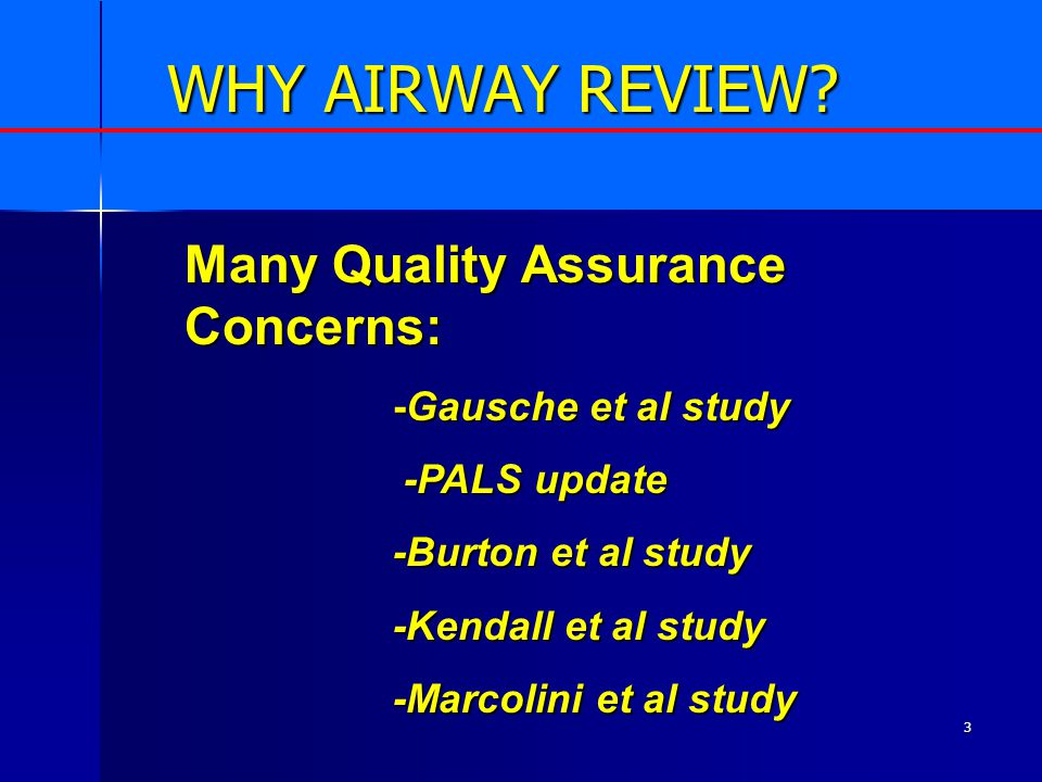 3 WHY AIRWAY REVIEW.