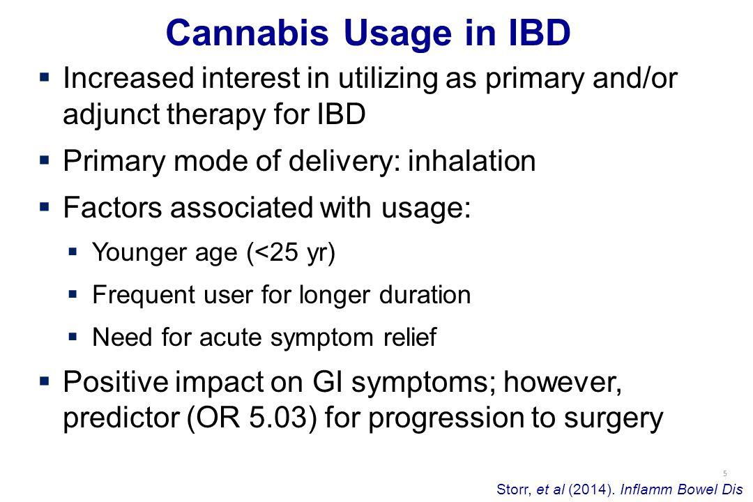 5 Cannabis Usage in IBD Storr, et al (2014).