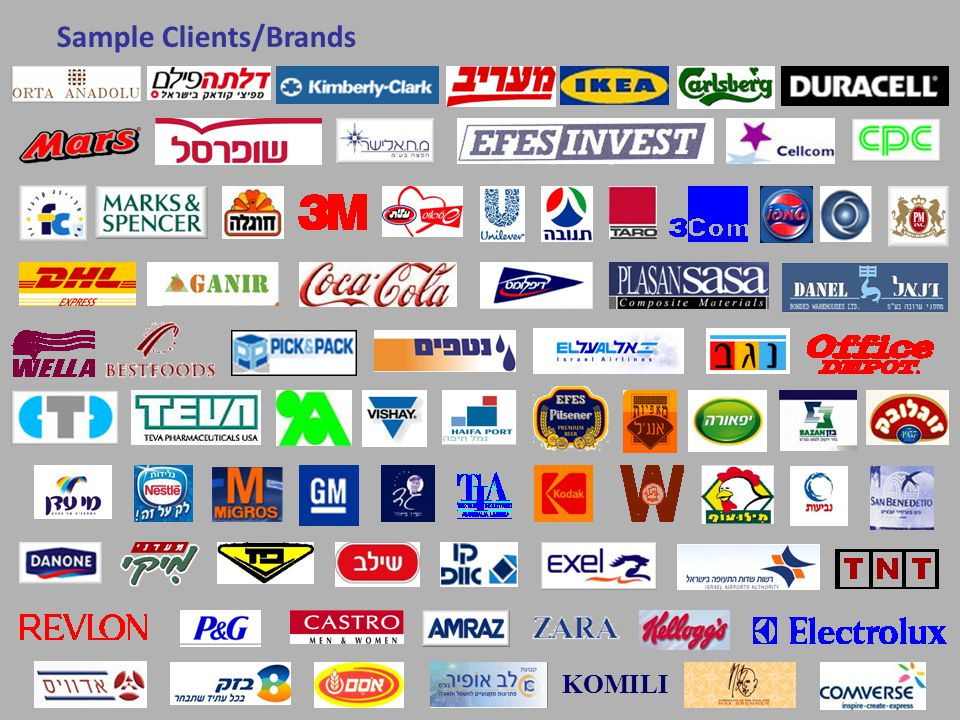 KOMILI Sample Clients/Brands