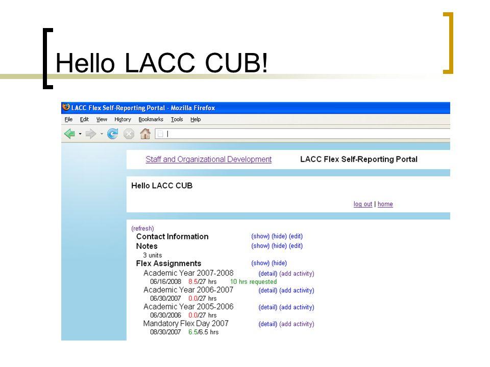 Hello LACC CUB!