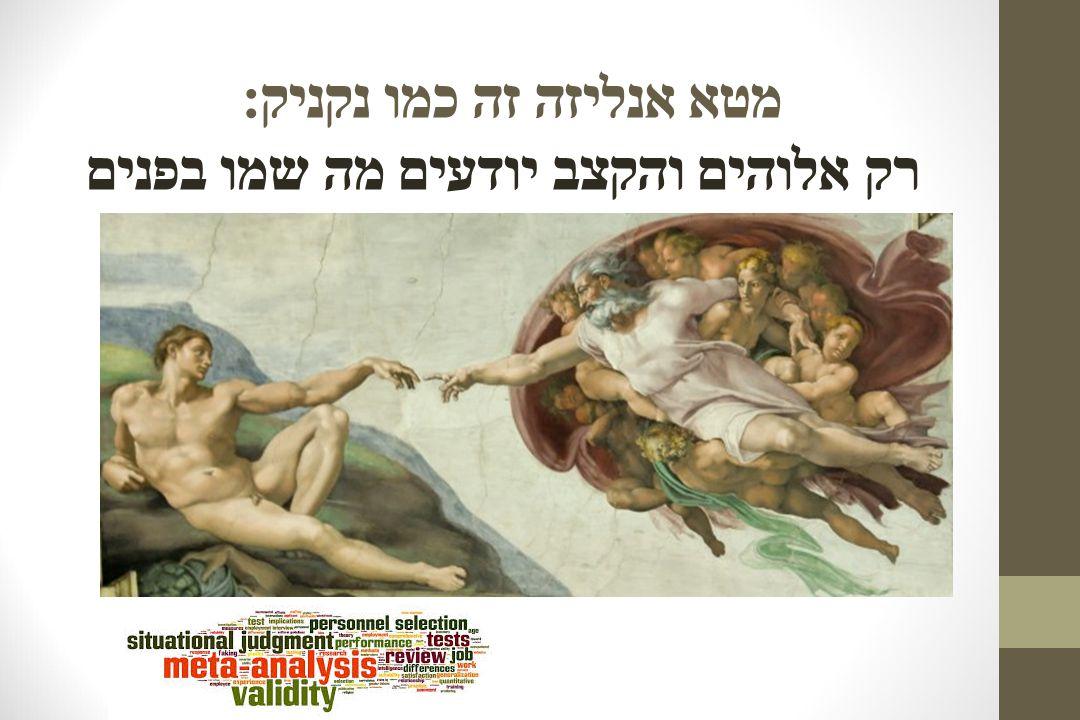 מטא אנליזה זה כמו נקניק : רק אלוהים והקצב יודעים מה שמו בפנים