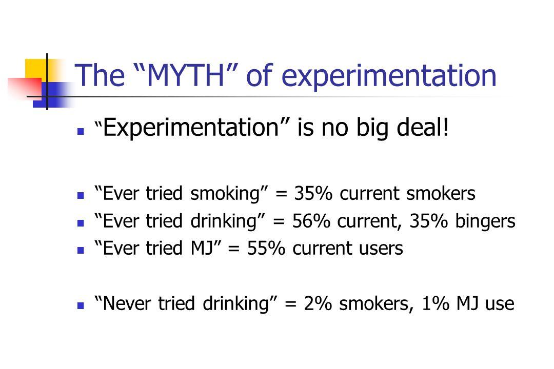 The MYTH of experimentation Experimentation is no big deal.