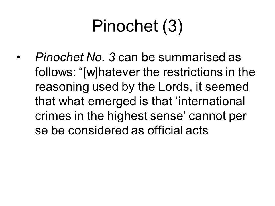 Pinochet (3) Pinochet No.