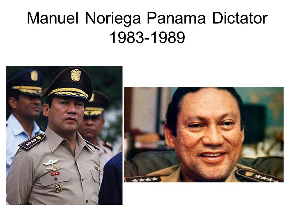 Manuel Noriega Panama Dictator 1983-1989
