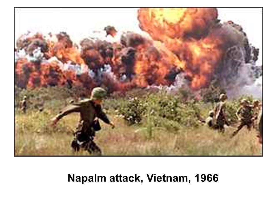 Napalm attack, Vietnam, 1966