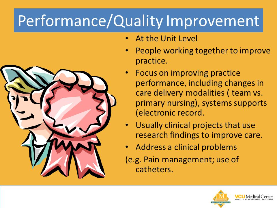 Performance/Quality Improvement At the Unit Level People working together to improve practice.
