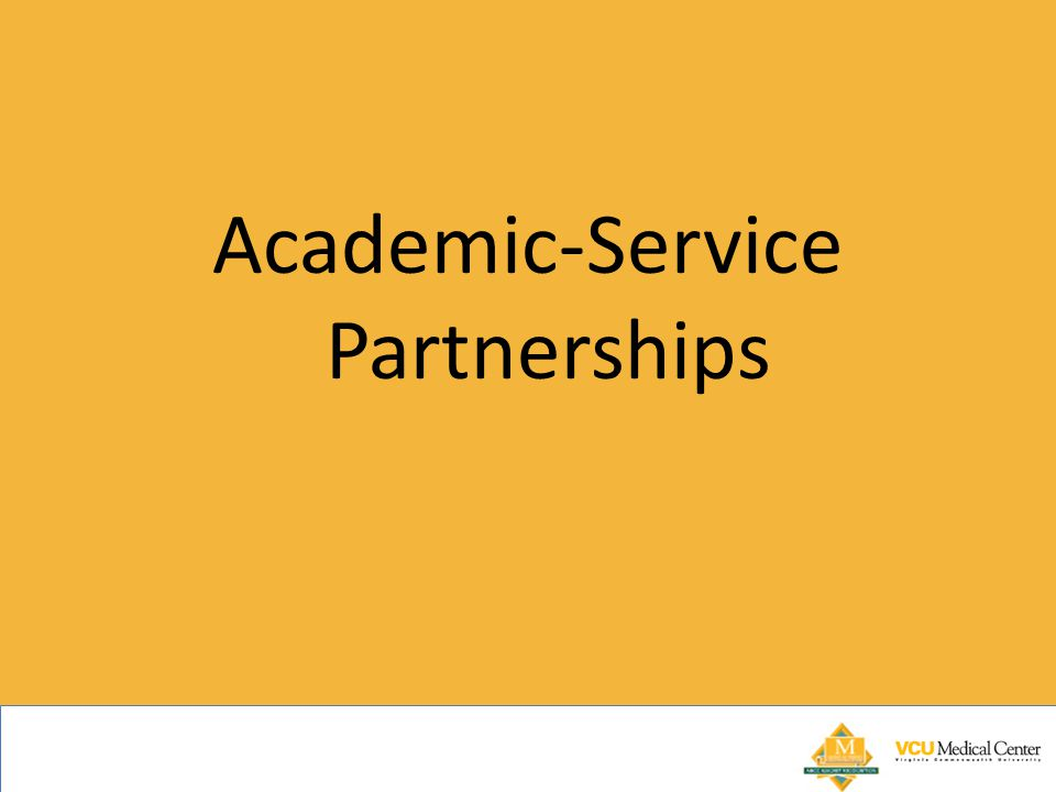 Academic-Service Partnerships