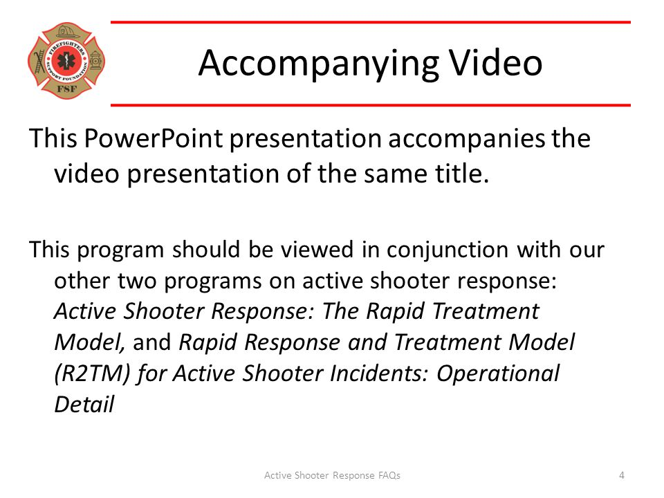 Accompanying Video This PowerPoint presentation accompanies the video presentation of the same title. This program should be viewed in conjunction wit