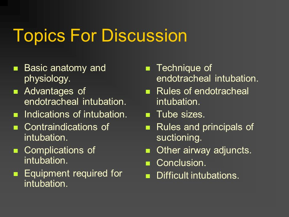 Topics For Discussion Basic anatomy and physiology.