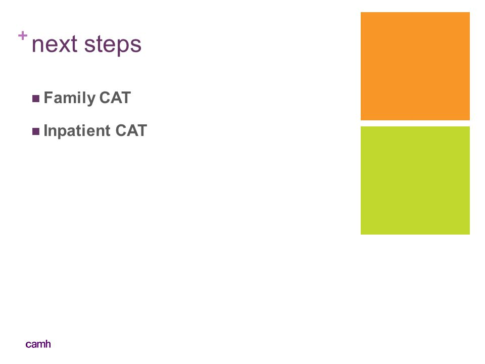 + next steps Family CAT Inpatient CAT