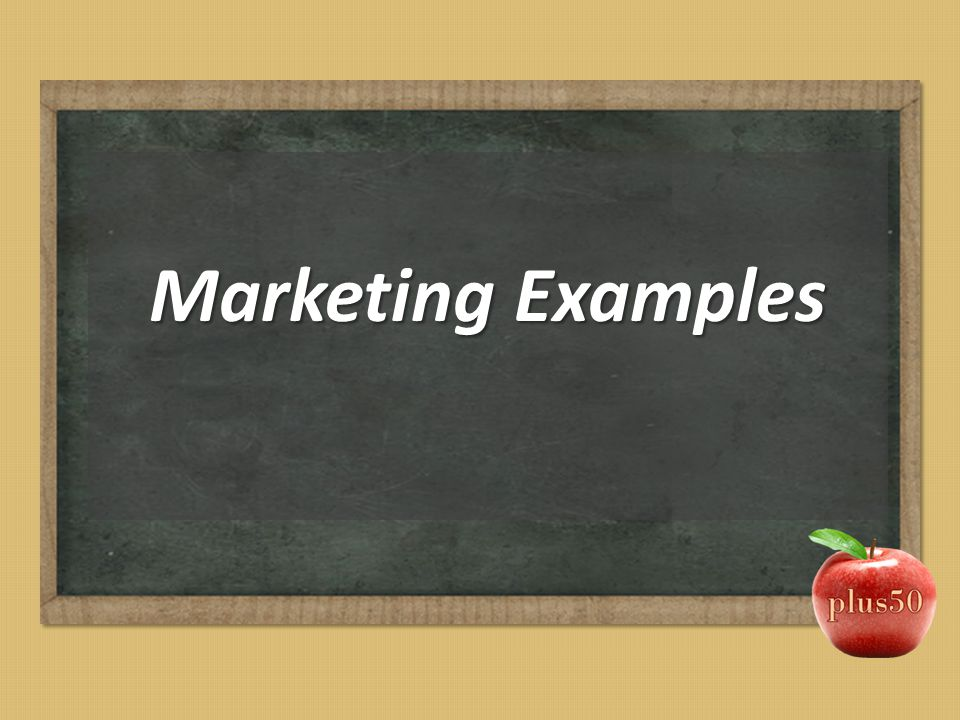 Marketing Examples