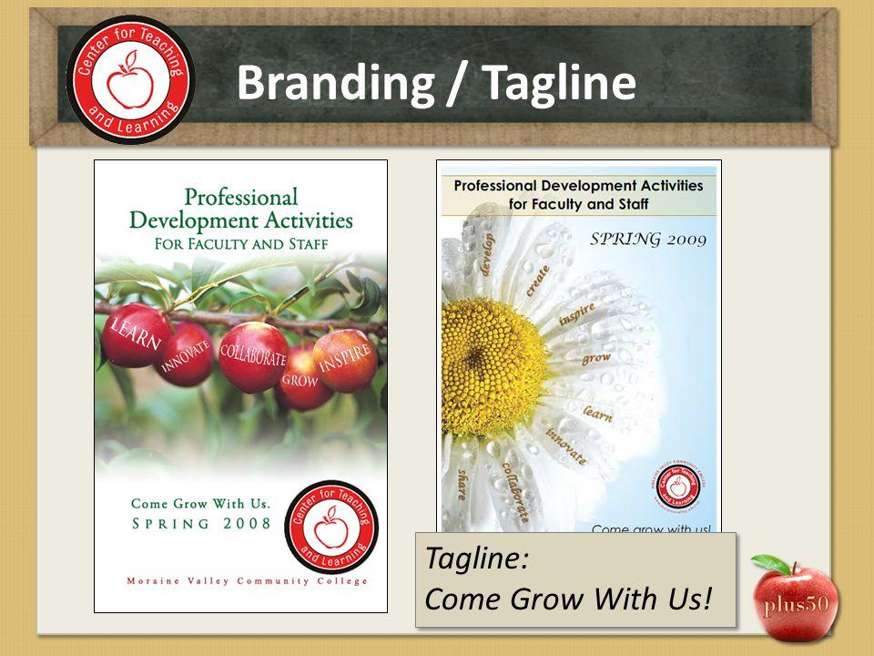 Branding / Tagline Tagline: Come Grow With Us!