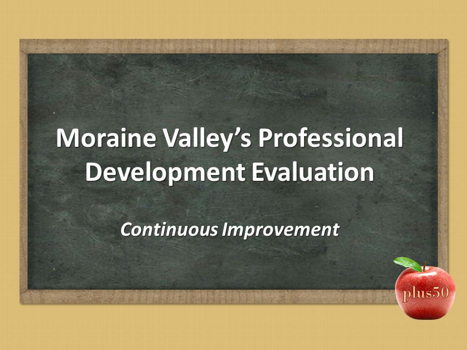 Moraine Valley's Professional Development Evaluation Continuous Improvement