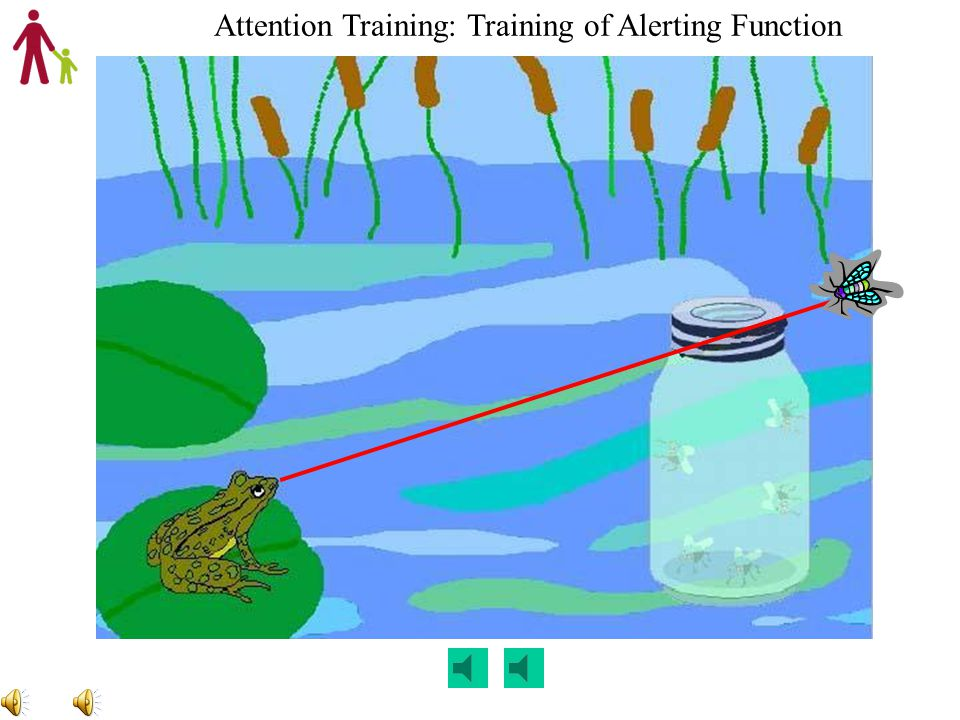 Alerting Task – Alert Frog Developed a developmentally appropriate task to specifically target alerting Training Alerting: Train child to wait and rem