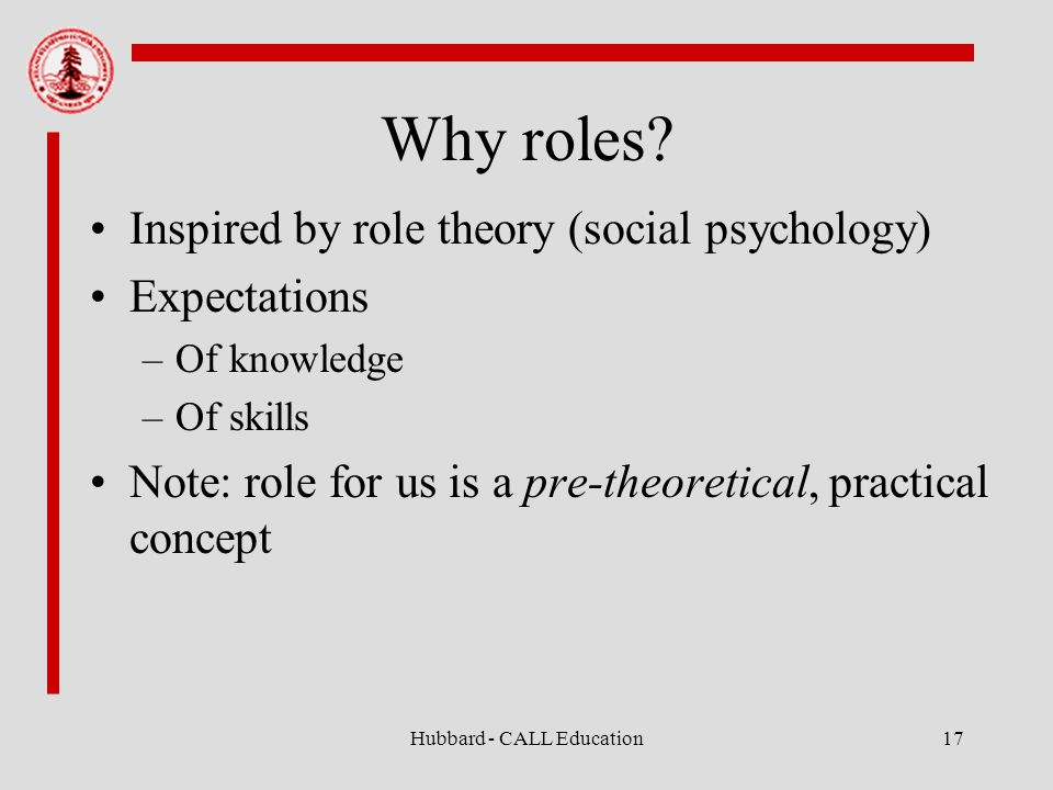 Hubbard - CALL Education17 Why roles.