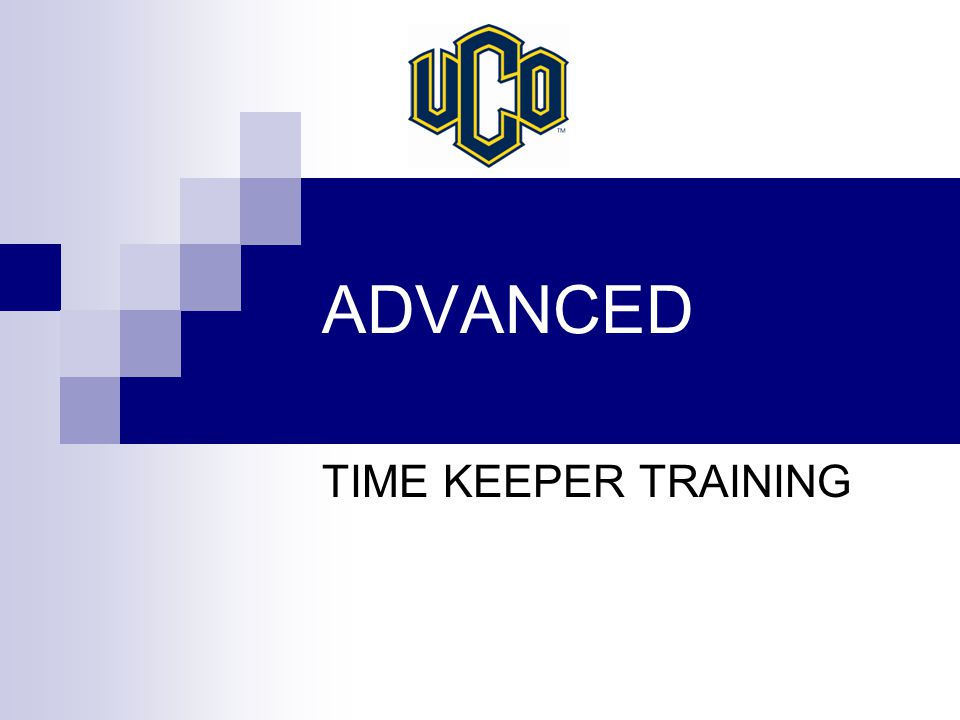 ADVANCED TIME KEEPER TRAINING