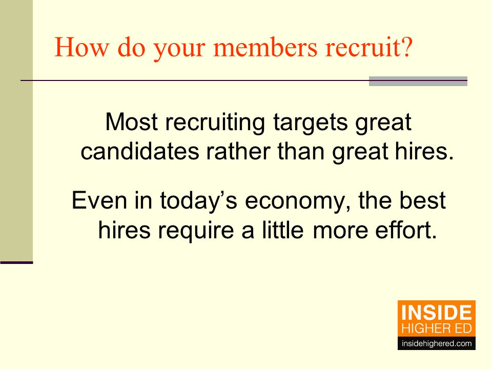The best candidate Has a great resume – it gets updated often.