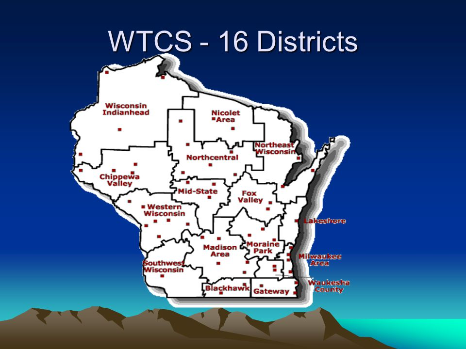 WTCS - 16 Districts
