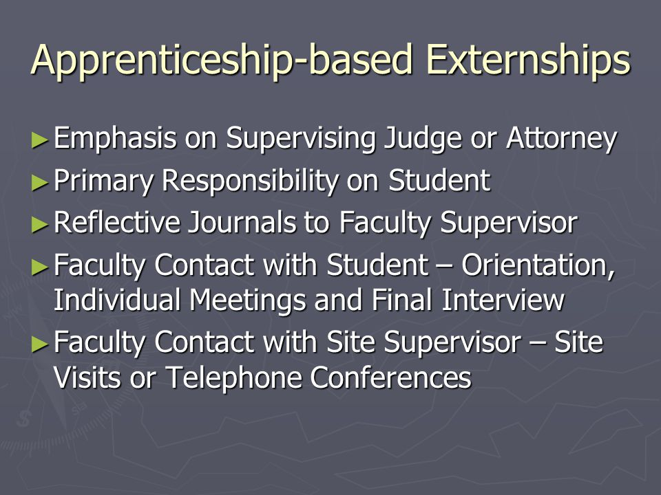 Large Programs, Unique Features ► Marquette Supervising attorney is also a member of the adjunct faculty and serves as general supervisor of fieldwork and teaches academic component Supervising attorney is also a member of the adjunct faculty and serves as general supervisor of fieldwork and teaches academic component