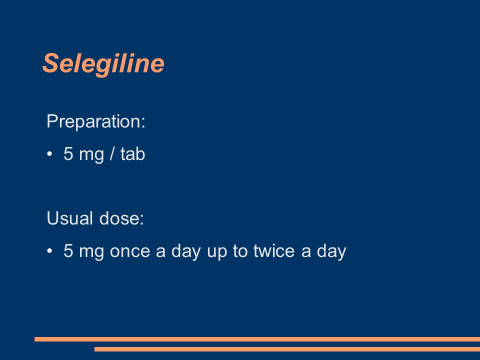 Preparation: 5 mg / tab Usual dose: 5 mg once a day up to twice a day
