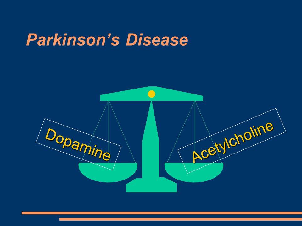 Parkinson's Disease Dopamine Acetylcholine