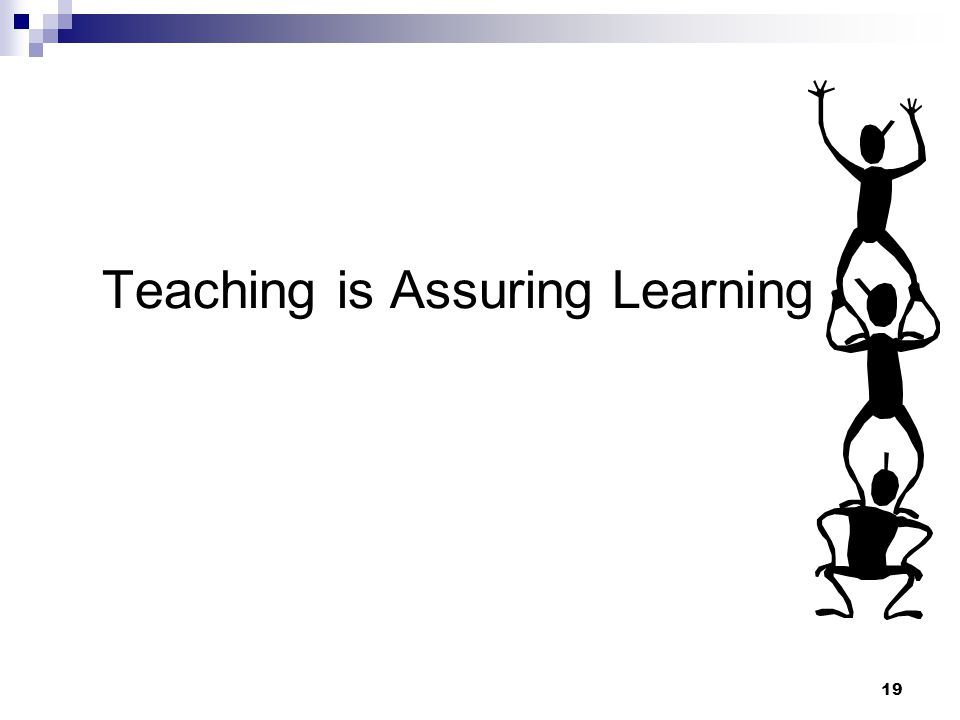 19 Teaching is Assuring Learning