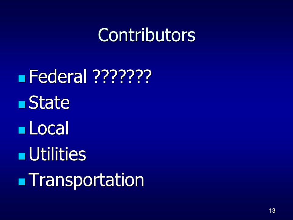 13 Contributors Federal ??????. Federal ??????.