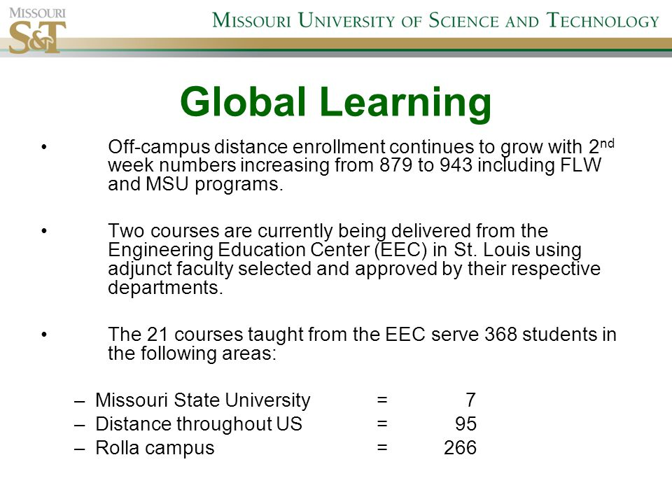 Global Learning Video Communication Center course production has increased 6% to an all time high with 115 courses being produced for Fall Semester 2014.