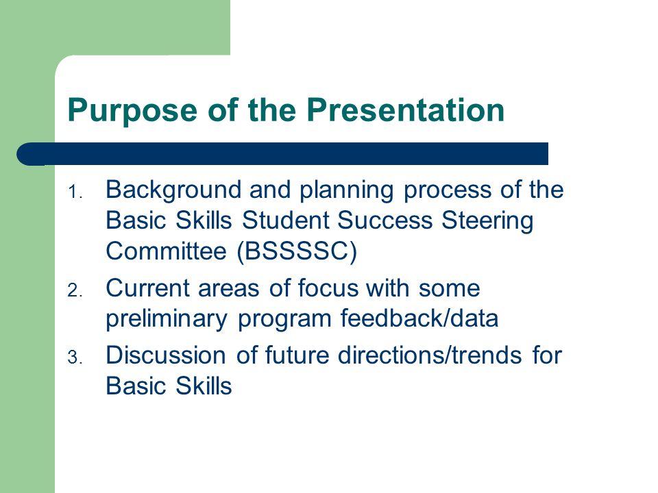 Purpose of the Presentation 1.