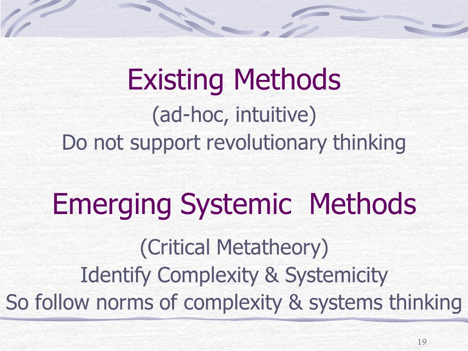 18 Intuitive Approaches = Poor Results (Theories of Motivation) Concepts in each theory Relatedness on Scale of Zero to One Trend Line for Complexity Robustness remains low: Theory not very useful in practical application Complexity declining – not peaking: No revolutionary change is indicated