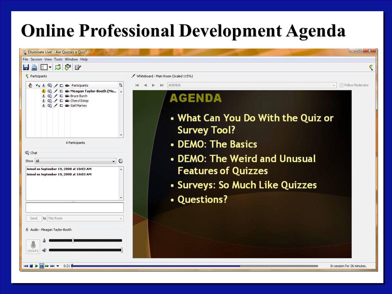 Online Professional Development Agenda
