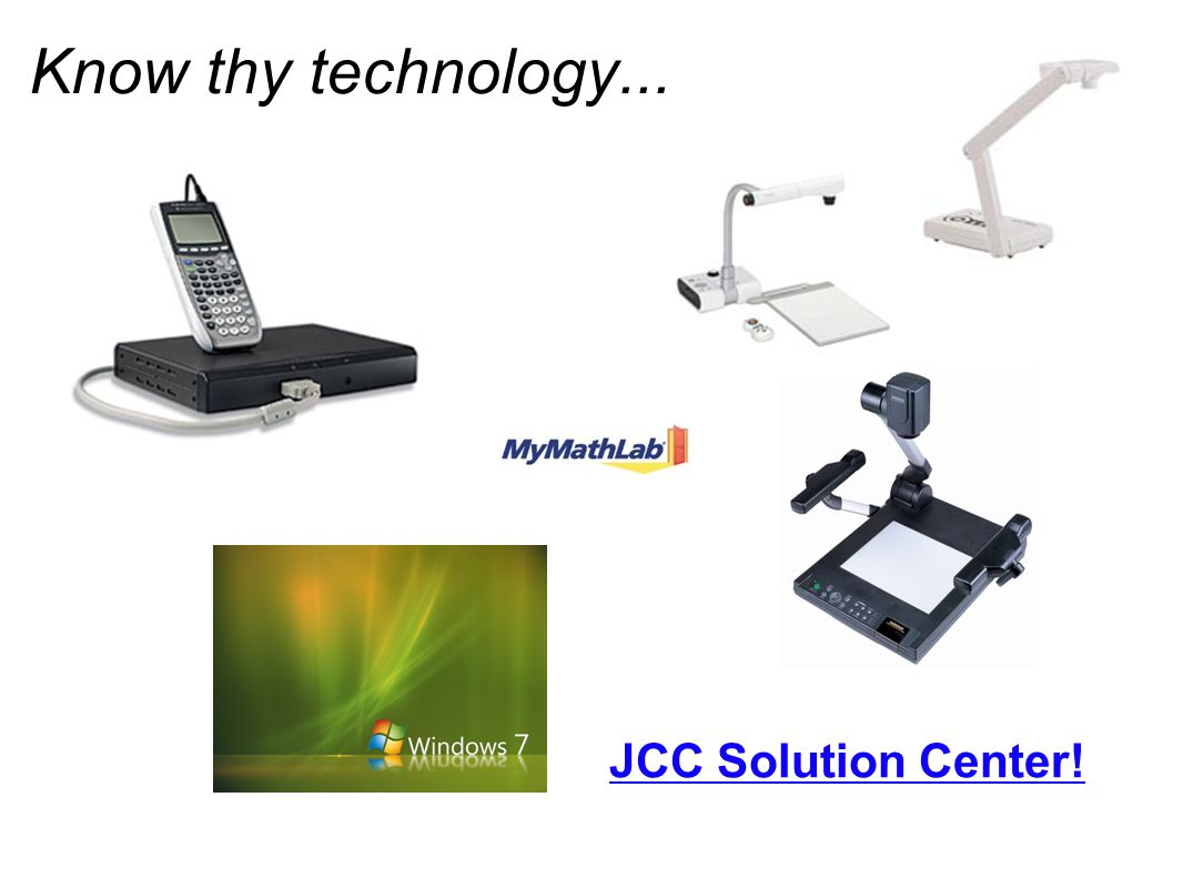 Know thy technology... JCC Solution Center!