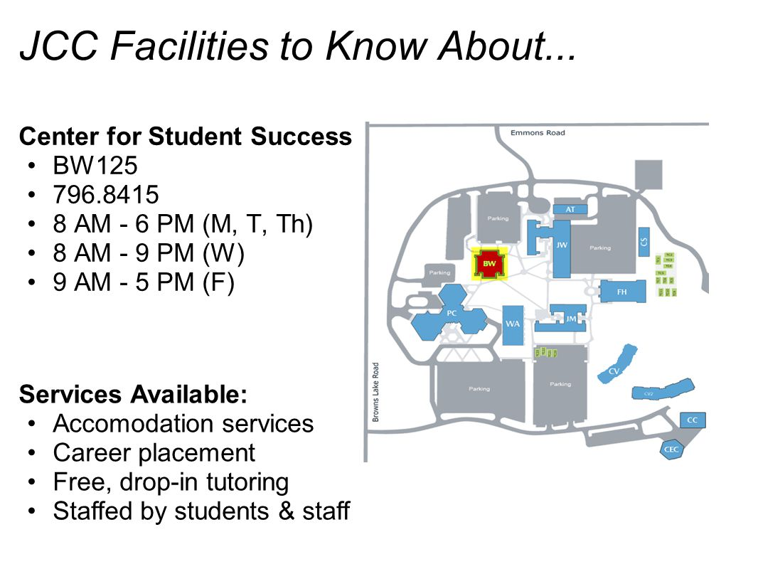 JCC Facilities to Know About...