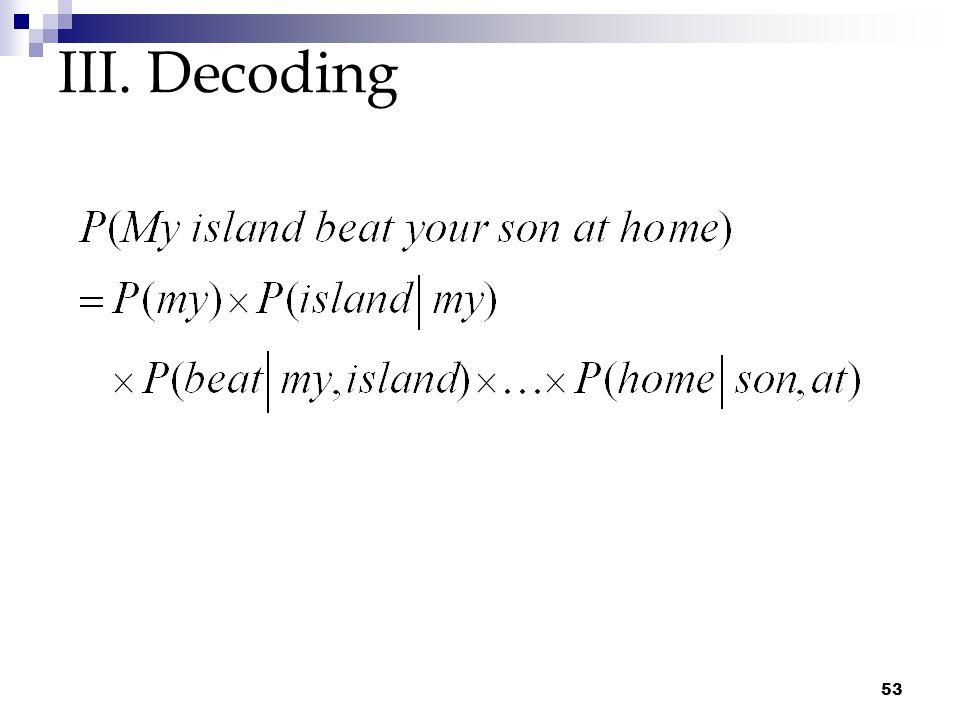 53 III. Decoding