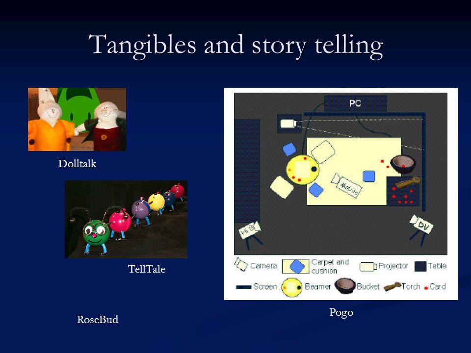 Tangibles and story telling TellTale Dolltalk RoseBud Pogo
