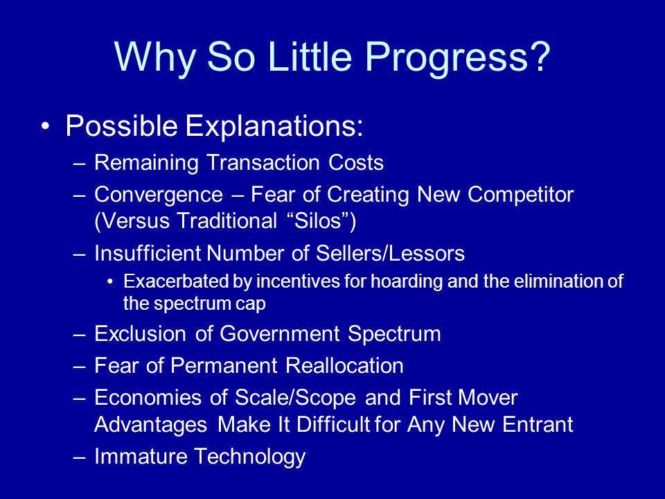 Why So Little Progress.