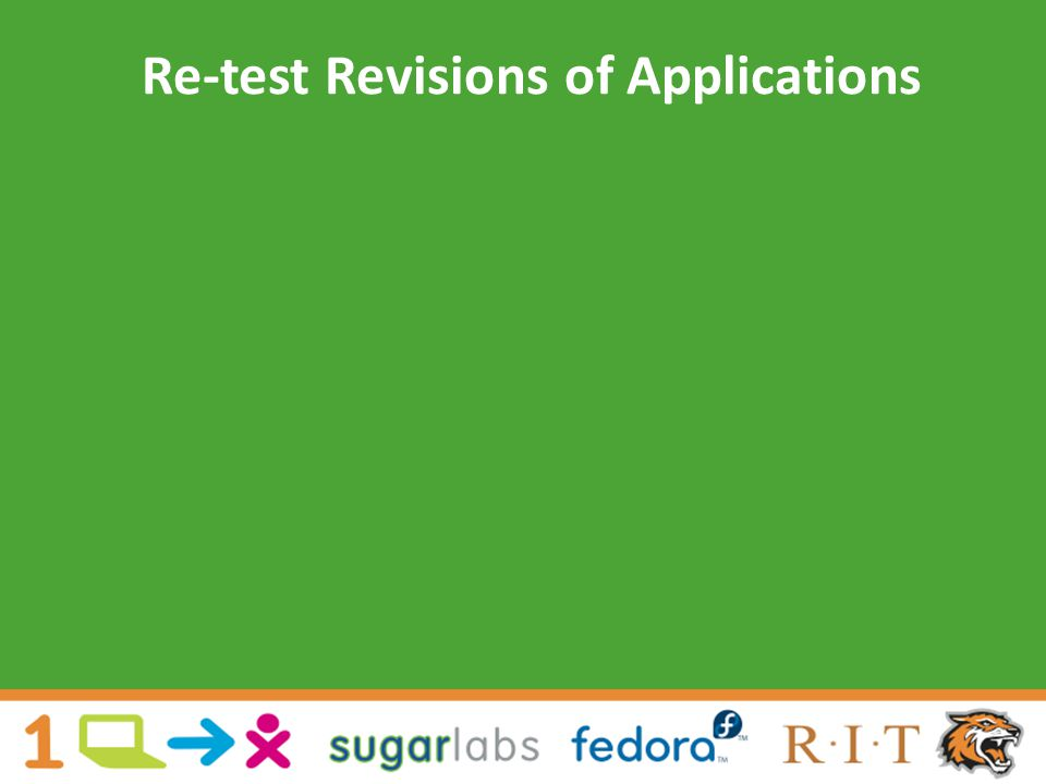 Re-test Revisions of Applications