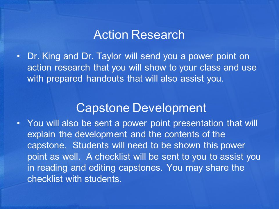 Action Research Dr.King and Dr.
