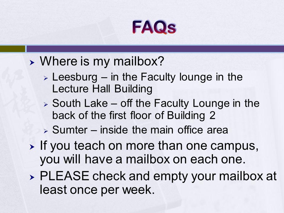  Where is my mailbox.