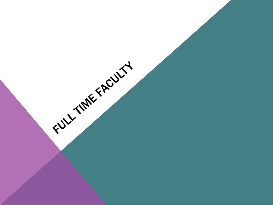 FULL TIME FACULTY