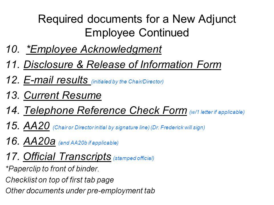 Adjunct Hard File Name Title Department