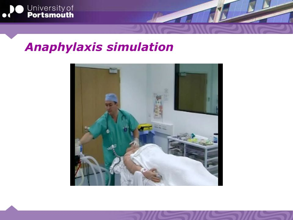 Anaphylaxis simulation