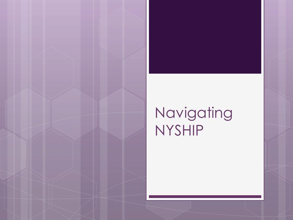 Navigating NYSHIP